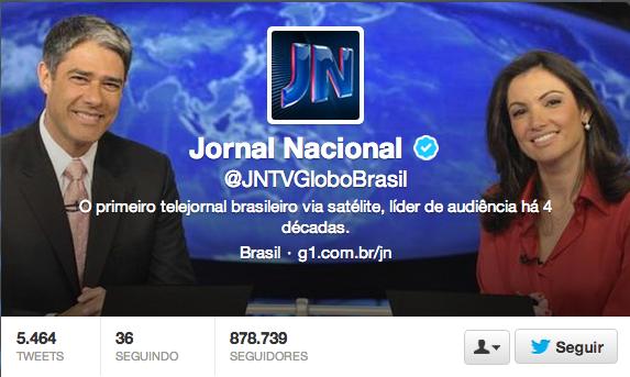 Jornal Nacional  JNTVGloboBrasil  no Twitter