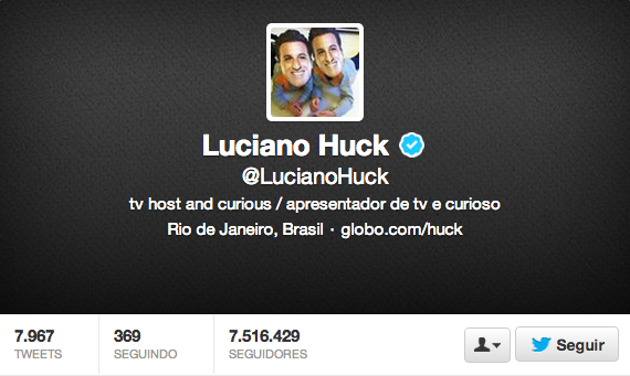Luciano Huck  LucianoHuck  no Twitter